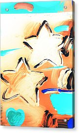 Max Two Stars In Inverted Colors Acrylic Print by Rob Hans