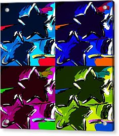 Max Two Stars In Pf Quad Colors Acrylic Print by Rob Hans