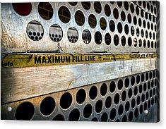 Maximum Fill Acrylic Print by Sennie Pierson