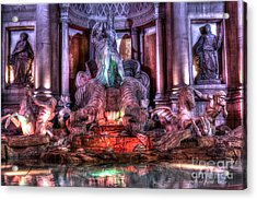Trevi Fountain Acrylic Print by Kevin Ashley