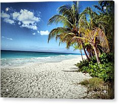 Acrylic Print featuring the photograph Maxwell Beach Barbados by Polly Peacock