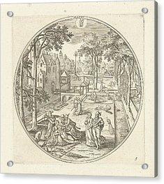 May, Adriaen Collaert, Hans Bol Acrylic Print by Adriaen Collaert And Hans Bol And Claes Jansz. Visscher (ii)