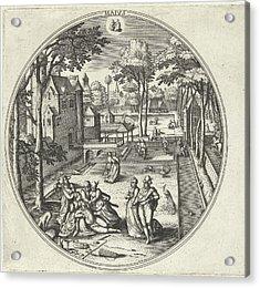 May, Adriaen Collaert, Hans Bol, Hans Van Luyck Acrylic Print by Adriaen Collaert And Hans Bol And Hans Van Luyck