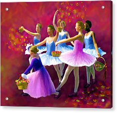 May Dancers Acrylic Print by Ric Darrell