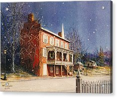 May House In Winter Acrylic Print