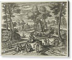 May, Julius Goltzius, Gillis Mostaert Acrylic Print by Julius Goltzius And Gillis Mostaert (i) And Hans Van Luyck