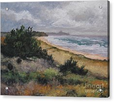 May Storm - Montauk Acrylic Print by Gregory Arnett