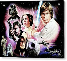 May The Force Be With You 2nd Version Acrylic Print by Andrew Read