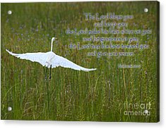 May The Lord Bless You Acrylic Print