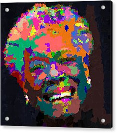 Maya Angelou - Abstract Acrylic Print