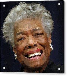 Maya Angelou Portrait Acrylic Print