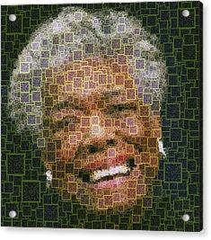 Maya Angelou - Qr Code Acrylic Print