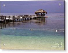Maya Key Pier At Roatan Acrylic Print