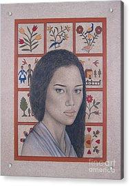 Maya Acrylic Print by Lynet McDonald