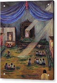 Maya Prayers Acrylic Print