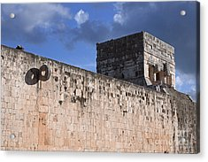 Mayan Ball Court Acrylic Print by Charline Xia
