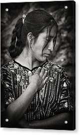 Mayan Beauty Acrylic Print by Tom Bell