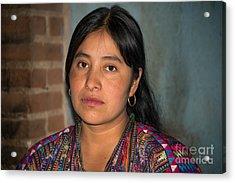 Mayan Girl Acrylic Print