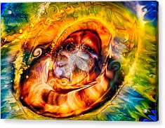 Mayan God Acrylic Print by Omaste Witkowski