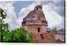 Mayan Observatory Acrylic Print by Jeff Kolker