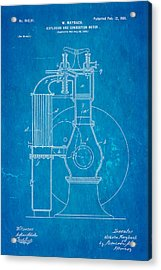 Maybach Internal Combustion Engine Patent Art 1901 Blueprint Acrylic Print by Ian Monk