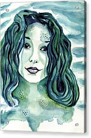 Maybe I'm A Mermaid Acrylic Print