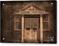 Mayberry Courthouse Acrylic Print by David Arment