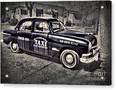 Mayberry Taxi Acrylic Print by David Arment