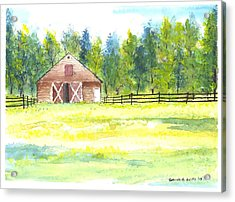 Mayberry's Barn Acrylic Print