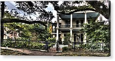 Mayfair Home On First Street Acrylic Print by PhotoLily Photography