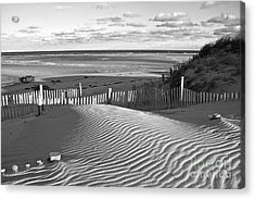 Mayflower Beach Black And White Acrylic Print by Amazing Jules