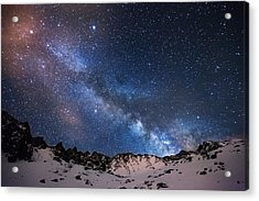 Mayflower Gulch Milky Way Acrylic Print by Darren  White