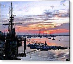 Mayflower II At Sunrise Acrylic Print by Janice Drew