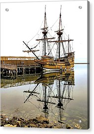 Mayflower II Reflections Acrylic Print