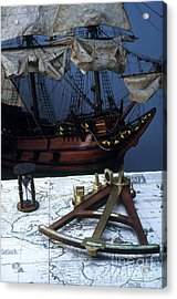 Mayflower Model With Quadrant Acrylic Print by Fred Maroon