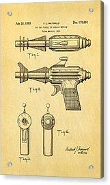 Maywald Toy Cap Gun Patent Art  2 1953 Acrylic Print