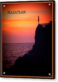 Acrylic Print featuring the photograph Mazatlan Diver by Heidi Manly