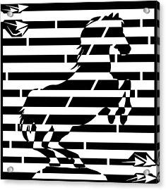 Maze Of 746 Watts 1 Horsepower Maze  Acrylic Print by Yonatan Frimer Maze Artist