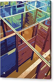 Labirinto Acrylic Print by Julio Lopez