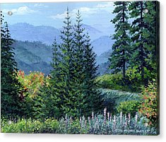 Mccoy Creek Canyon Painting Acrylic Print