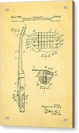 Mccarty Gibson Les Paul Guitar 2 Patent Art 1955 Acrylic Print by Ian Monk
