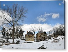 Mccormick Farm In Winter Acrylic Print by Todd Hostetter