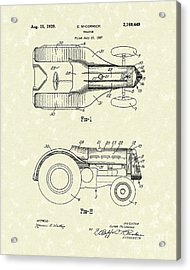 Mccormick Tractor 1939 Patent Art Acrylic Print by Prior Art Design