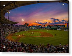 Mccoy Stadium Sunset Acrylic Print by Tom Gort