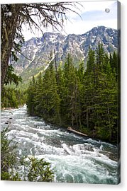 Mcdonald Creek In Glacier Np-mt Acrylic Print by Ruth Hager