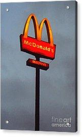 Mcdonald's - Painterly - V2b Acrylic Print by Wingsdomain Art and Photography