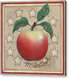 Mcintosh Apple Two Acrylic Print by Linda Mears