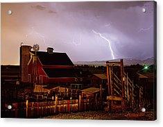 Mcintosh Farm Lightning Thunderstorm Acrylic Print by James BO  Insogna