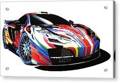 Mclaren Art Car Acrylic Print by Lyle Brown
