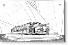 Mclaren F1 Sketch Acrylic Print